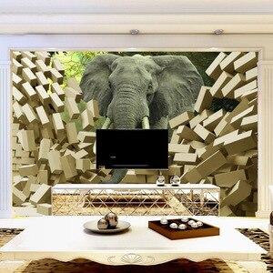 Beibehang gran sala de TV telón mural papel 3D vídeo estereoscópico de pared de ladrillo como papel pintado no tejido de papel