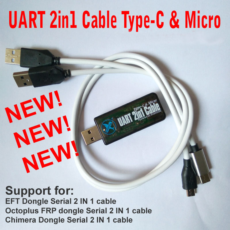 2019 Nieuwste UART 2in1 Cabel Type - C Micro For Eft Dongle Octoplus Frp Dongle Chimera Dongle Tools