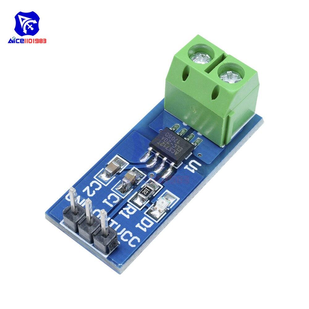 ACS712 5A zakres czujnik prądu płyta modułu dla Arduino 5V 5A Hall czujnik prądu moduł rozszerzeń