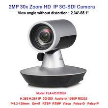 2MP 30x Zoom Óptico de 1080 p 60fps HD Cor da Câmera de Vídeo Conferência com 3G-SDI entrada De Áudio IP RS232