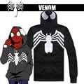 Cotton Venom Hoodie Black Spiderman Hoodie Venom Jacket Black Spiderman Jacket With Hood