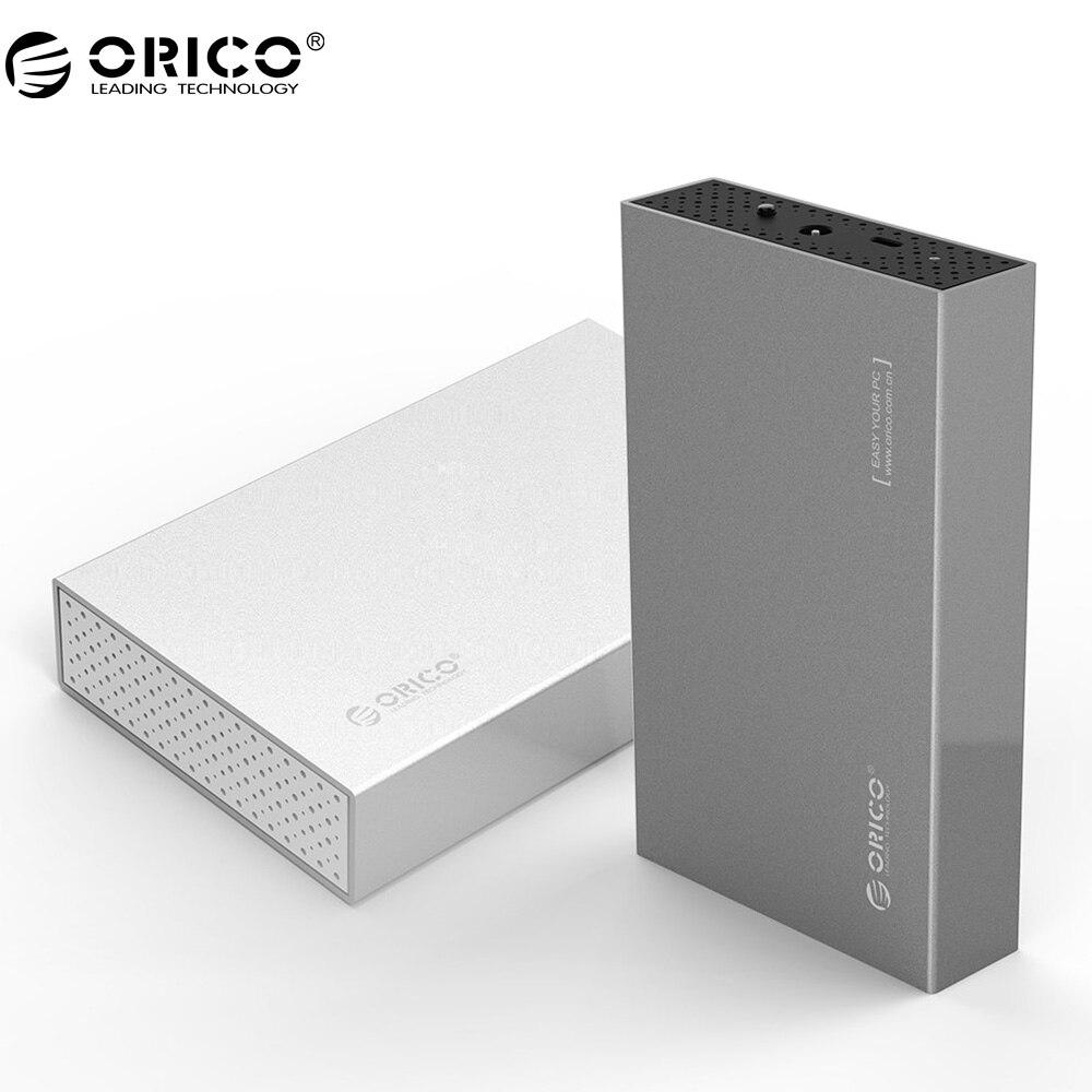 ORICO 3,5 дюймов Тип-C Алюминий жесткий диск с USB3.1 Gen1 к SATA3.0 Поддержка 8 ТБ емкость-серебро (3518C3)