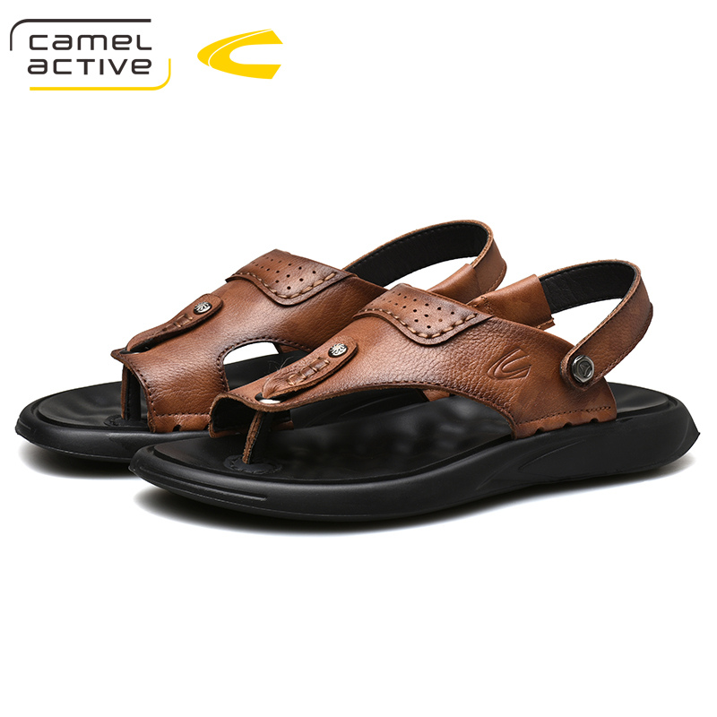 Camel Active 2019 New Genuine Leather Quick-Dryin Sandals Summer Quality Casual Sneakers Anti-Slippery Outdoor Beach Shoes 19320