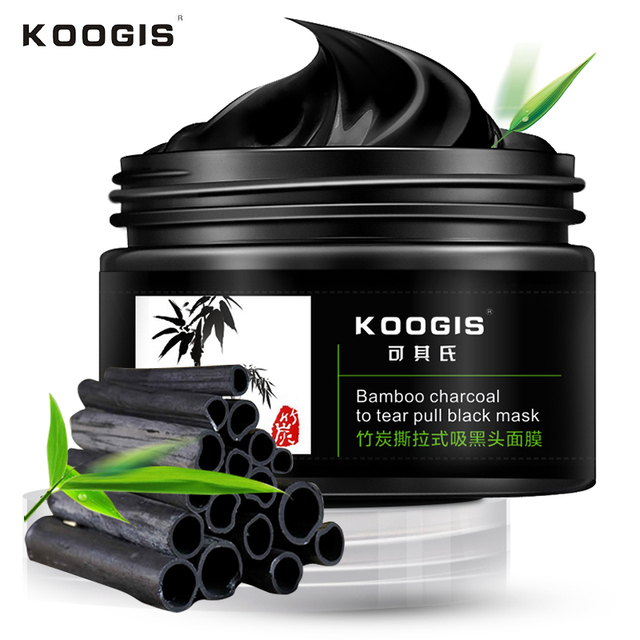 KOOGIS Anti-blackhead  mask Bamboo Charcoal Oil Control blackhead remover Cleansing Nose Anti-blackhead face mask 120g  KOOGIS3