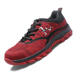 Bezpieczeństwa buty Cap ze stali Toe buty bezpieczeństwa buty dla mężczyzny buty robocze męskie oddychające oczek rozmiar 12 obuwie odporne na zużycie YXZ005