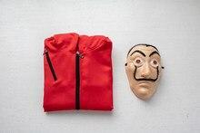 Máscara salvador dali cosplay a casa de papel, festa, adulto, fantasia dinheiro heist S-XXL