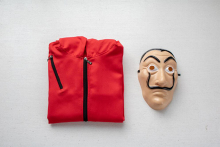 Halloween Money Heist Costume & Face Mask