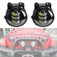 4'' inch led fog lights for Jeep Wrangler JK 2007 2015 LED fog lamps Bulb Auto len Projector Headlight Driving Offroad Lamp