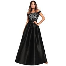 c630864c1 Mujeres vestidos de noche largos vestidos de partido femeninos del hombro  Floral encaje cintura alta vestido Maxi vestido robe f.