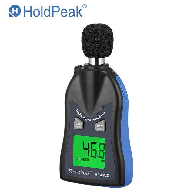 Holdpeak HP-882C sonomètre numérique testeur de bruit écran LCD voix décrire compteur moniteur testeur de pression compteur de bruit