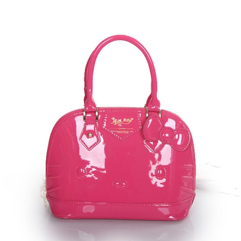 ФОТО Hello kitty bag girls handbag lovely cartoon portable white red shell bag hello kitty wholesale china