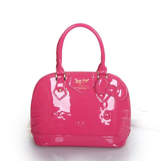 Hello kitty bag girls handbag lovely cartoon portable white red shell bag hello kitty wholesale china