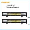 """Auxmart 2x20 """"270 w de Triple fila LED Light Bar Offroad combo viga Luz de la Barra para camper remolque del Barco del Carro 4x4 ATV SUV UTV 4WD 12 v 24 v"""