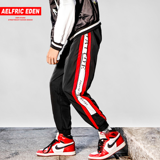 Rode Joggingbroek Heren.Aelfric Eden 2018 Kleur Blok Patchwork Streep Heren Joggingbroek Hip