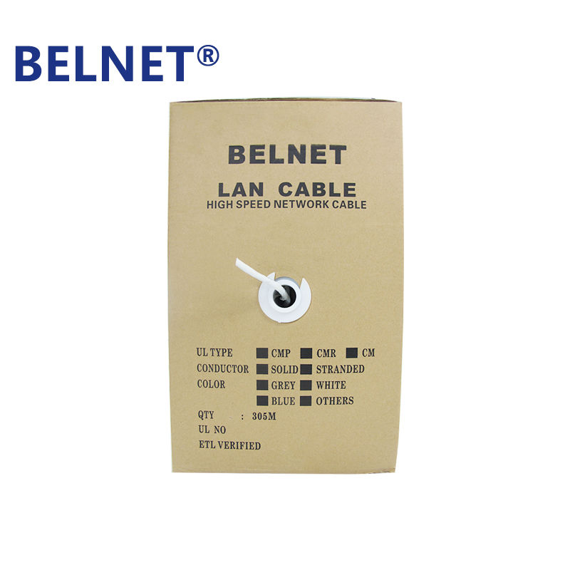 BELNET rj45 cat5 cat5e ethernet lan network cable white 305m(1000ft) for network construction