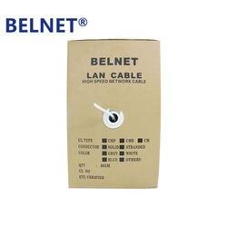 Belnet rj45 cat5 cat5e شبكة إيثرنت lan كابل الأبيض 305 متر (1000ft) ل شبكة البناء