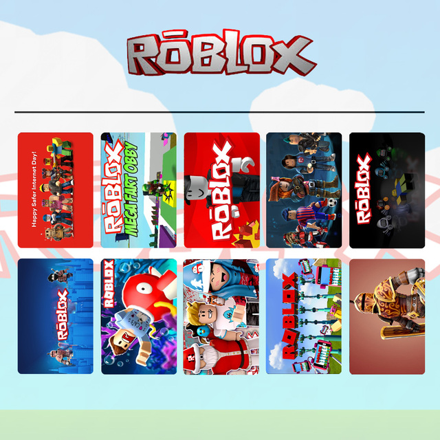 Ohcomics 10pcs Roblox Figure Hot Game Card Stickers Dull Polish Pvc