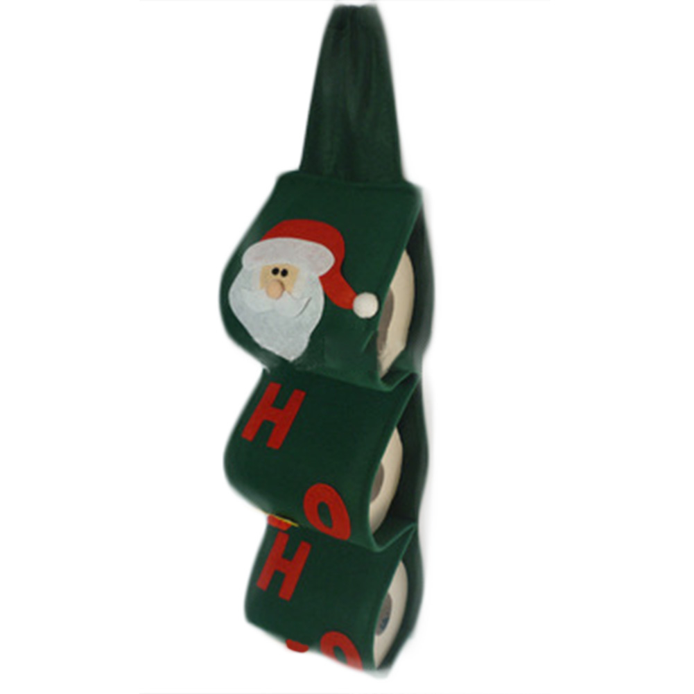 Cute santa claus towel christmas decor - 1pc Santa Claus Towel Sets Covers Christmas Holiday Party Paper Bags Green Cute Towels For Home