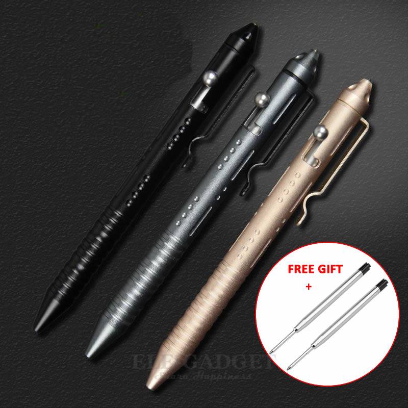 Portable Tactical Pen Self Defense Glass Breaker Aluminum Alloy EDC Tool For Outdoor Camp Emergency Kit Ball Point Pen