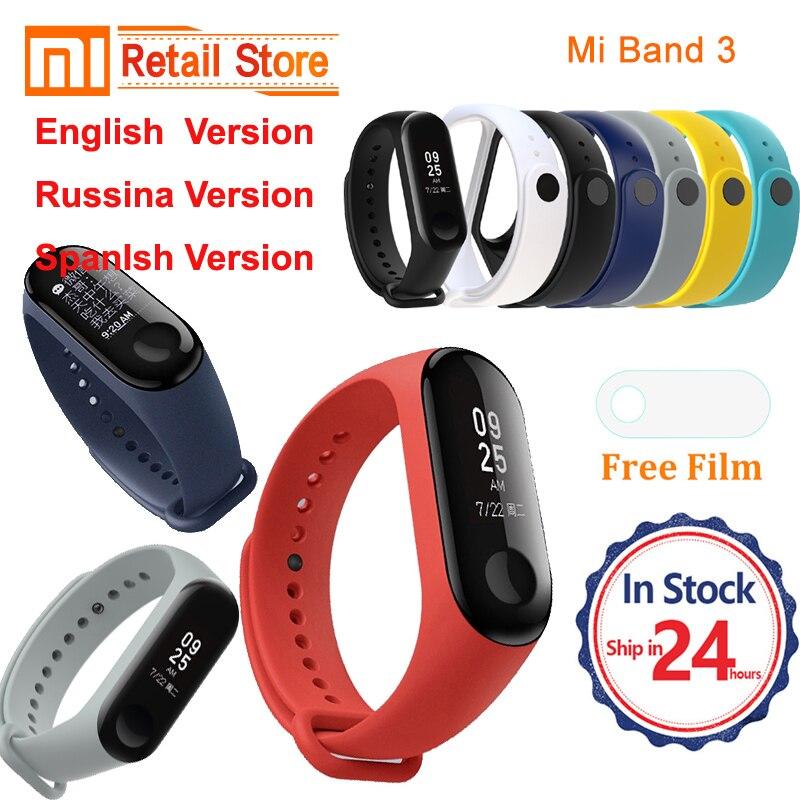 IN stock Xiaomi mi Band 3 2 English Russian version Smart Bracelet Heart Rate Pulse Xiaomi Miband 3 2 OLED mi band 3 2 Wristband