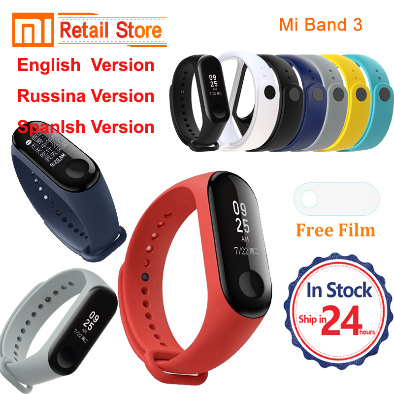 IN stock Xiaomi mi Band 3 2 English Russian version Smart Bracelet Heart Rate Pulse Xiaomi Miband 3 2 OLED mi band 3 2 Wristband
