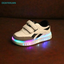 LED kids shoes 2018 New Lighted high quality fashion baby gl