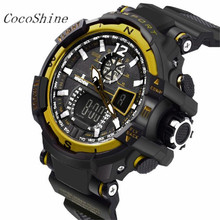 CocoShine A-999 Men's Rubber Band LED Digital Sports Waterproof Diving Quartz Wrist Watch wholesale Free shipping