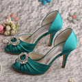 Wedopus MW344 High Heel Green Olive Wedding Shoes Bridesmaid Pumps Peep Toe Dropshipping