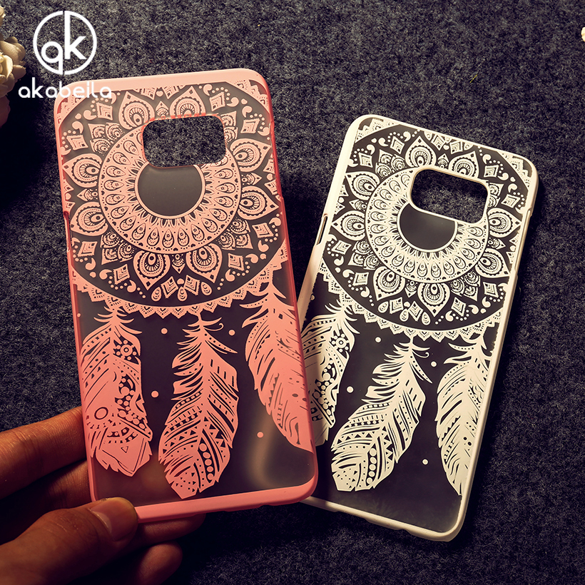 AKABEILA Dreamcatcher Flower <font><b>Phone</b></font> Cases For Samsung Galaxy S6 <font><b>Edge</b></font> Plus\<font><b>S7</b></font> <font><b>Edge</b></font>\plus\S7262\S7262 Oil painted <font><b>Phone</b></font> Cover Skin