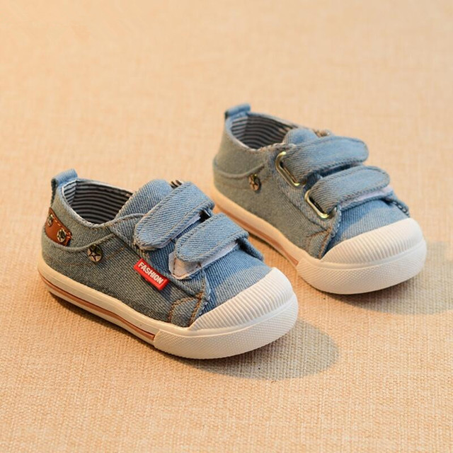 a3b7a233a Canvas Children Shoes Sport Breathable Boys Sneakers Brand Kids Shoes for  Girls Jeans Denim Casual Baby