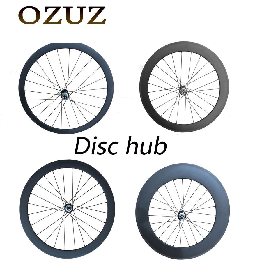 OZUZ Novatec D791SB/D792SB hub 38 50 88mm carbon disc wheel Rear Tubular Clincher 3K 700c Matte glossy Road disc brake 23mm wide