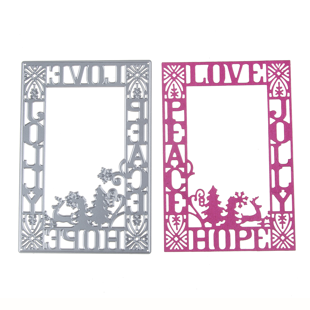 130*90mm scrapbooking DIY Corner love hopeframe Shape Metal steel cutting die flower Sha ...
