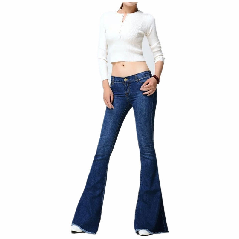 2017 European Fashion Leg Jeans Are Detached Sanding Bell Bottoms Ladies Trousers Women Flare Pants Loose Jeans