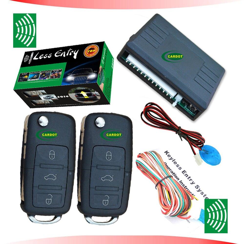 À distance d'entrée sans clé avec OEM Flip clé à distance shell à distance système de verrouillage central à distance verrouiller et déverrouiller système sans voiture alarme