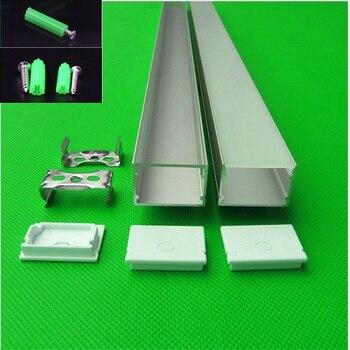 Может занять от 10 до 30 шт./лот 40 дюймов длиной 1 м для W30 * H20mm плоский светодиодный алюминиевый профиль для двойной ряд 27 мм светодиодные полос... >> Firmament M2C Store