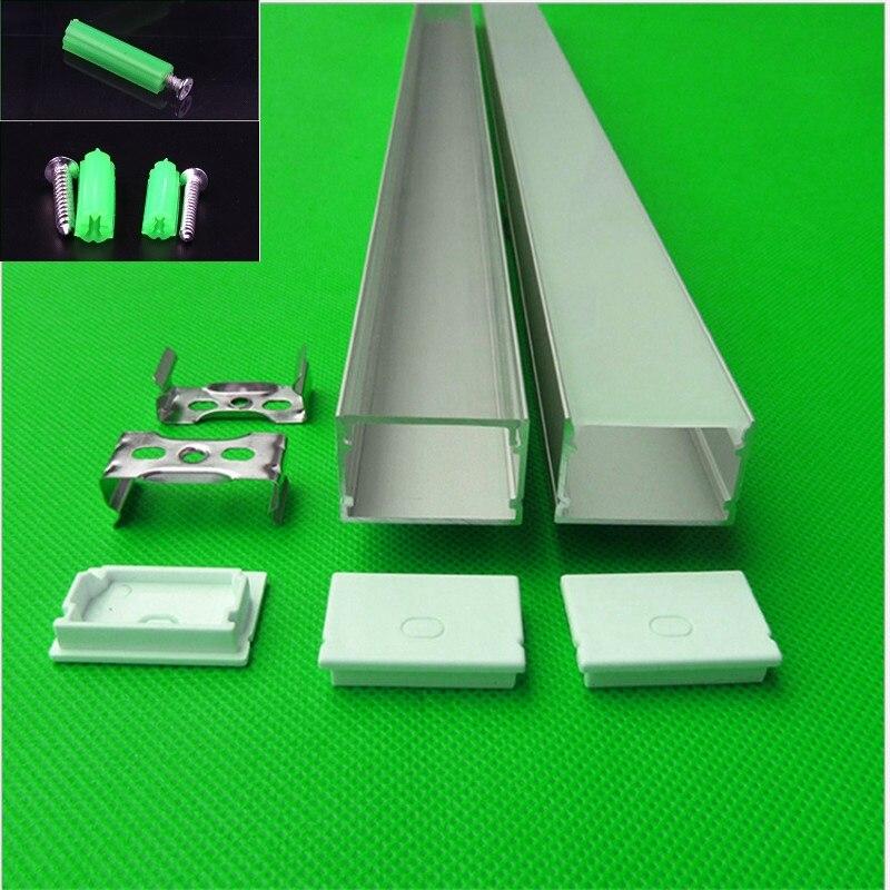 10-30 pcs/lot 40 pouces 1 m long W30 * H20mm plat led profilé en aluminium pour double rangée 27mm led bande, linéaire bar lumière logement