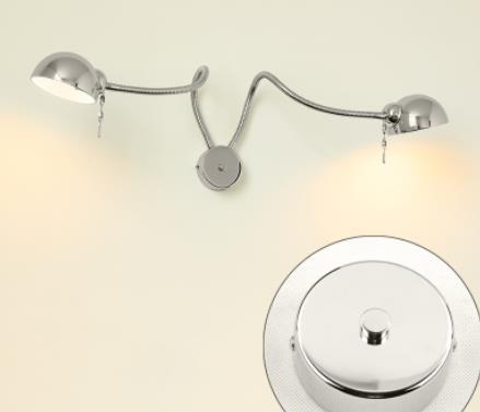 Modern LED Hose Wall lamp flexible 1W 3W 5W bathroom mirror light silver Bedside Reading study sconces led luminaire lamps