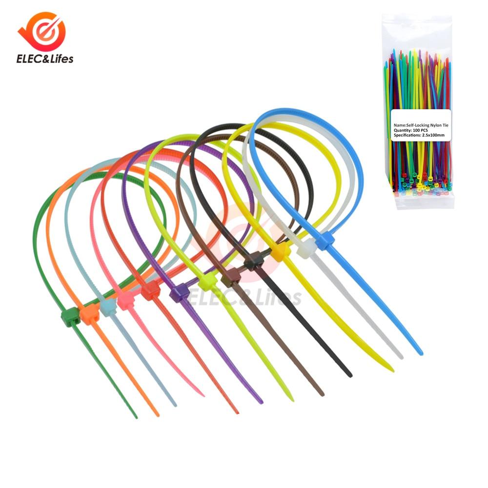 Bridas para Cables 200 x 2,5 mm, 100 Unidades Color Negro Pik-a-Pak