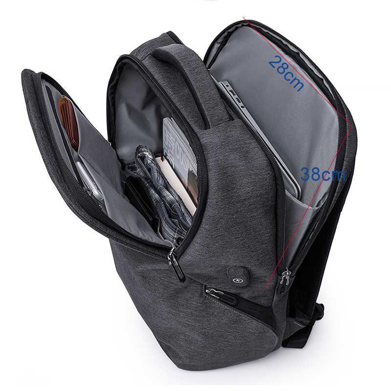 Кака Anti theft для мужчин рюкзак 15,6 ноутбук Рюкзаки Школьный для подростков непромокаемые путешествия рюкзаки с usb-разъемом мужской женщин Mochilas