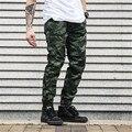 Gimnasio Hip Hop Masculino Ropa Casual Hombres Pantalones de Camuflaje Pantalones de Carga de Trabajo Pantalones Militares de Ocio pantalones de Chándal de Los Hombres Chándal