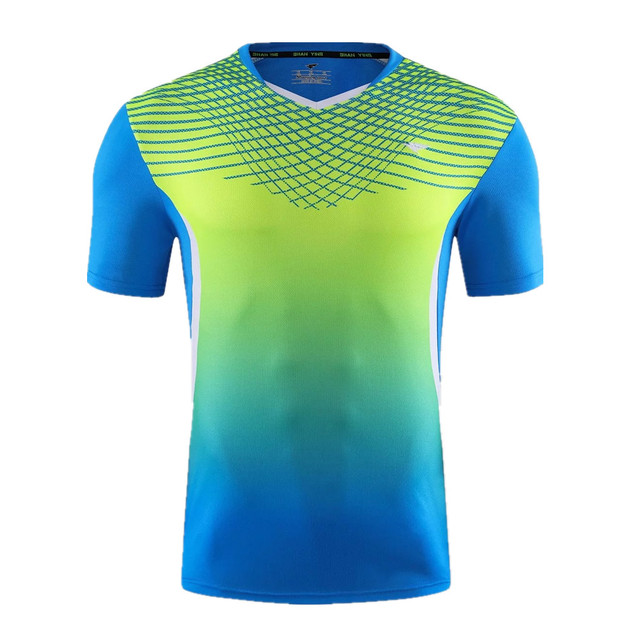 online store 3610d 0ccff US $12.05 24% OFF|New Men tennis shirts badminton golf shirts sport running  shirt soccer jerseys football sportswear clothes breathable quick dry-in ...