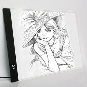 Image 2 - 2019 nowy diament malarstwo A4 LED lightpad cienki rysunek artystyczny podświetlana tablica śledzenie pisanie przenośny elektroniczny Tablet Pad
