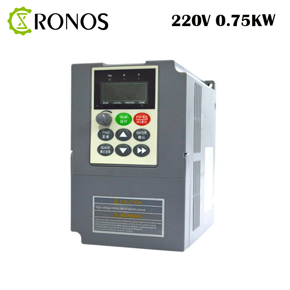 0.75KW 220V 4A Single Phase Variable Inverter 3HP Frequency Drive Inverter VSD VFD PWM Control For Motor Speed Control vsd frequency inverter ac drive vfd 220v 2 2kw single phase input and 220v 3 phase output