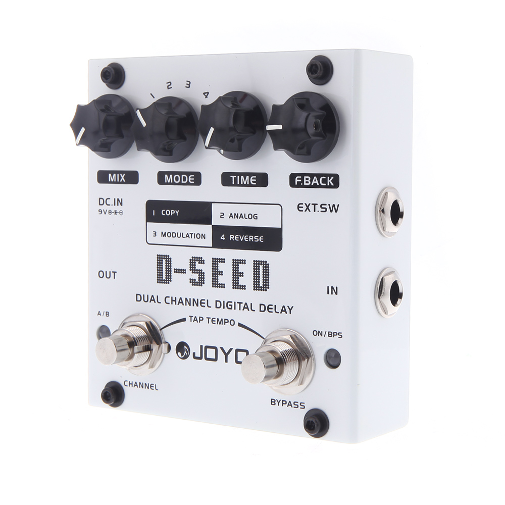JOYO D SEED Guitar Effect Pedal Dual Channel Digital Delay Guitar Pedal with Four Modes Guitar