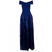 2017 Новинка осени высокое качество глубокий синий и темно платье с открытыми плечами коктейльное платье опт и розница Q129
