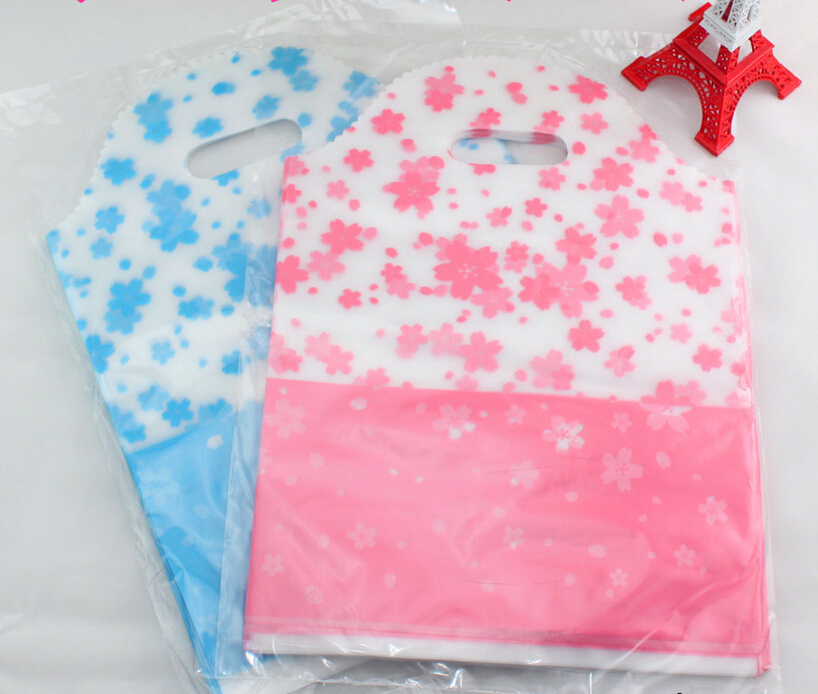 2-10 Alice, Size:25*35cm,450pcs/lot Pink/Blue Shopping Bags Mini Plastic Gift Bags For Birthday Gift Package