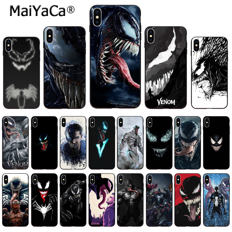 MaiYaCa Marvel Venom Newest Super Hero Cute on sell funda Phone Case For iPhone X 66S 7 8 Plus 5 5S SE XS XR XS MAX mobile cover чехлы марвел