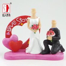 Wedding gift wedding cake topper coulpe resin body / creative gifts / clay dolls / custom / clay doll body SR237