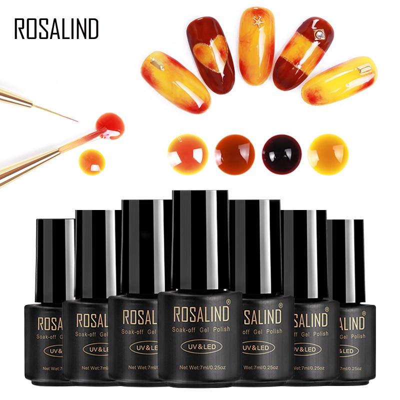 ROSALIND Gel 1S Blossom Gel nail Polish DIY Nail Art decoration Blooming effect 7ml fast dry long lasting Hybrid varnishes
