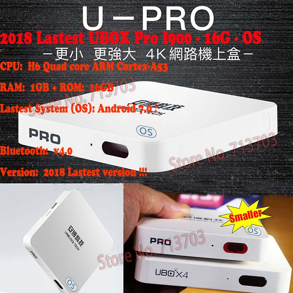 5 PCS/Lot IPTV UNBLOCK UBOX 5 UBOX PRO I900 16GB Android 7.0 Smart TV Box 1000 Asia's JP KR & Sports Free 4K HD Live TV Channels